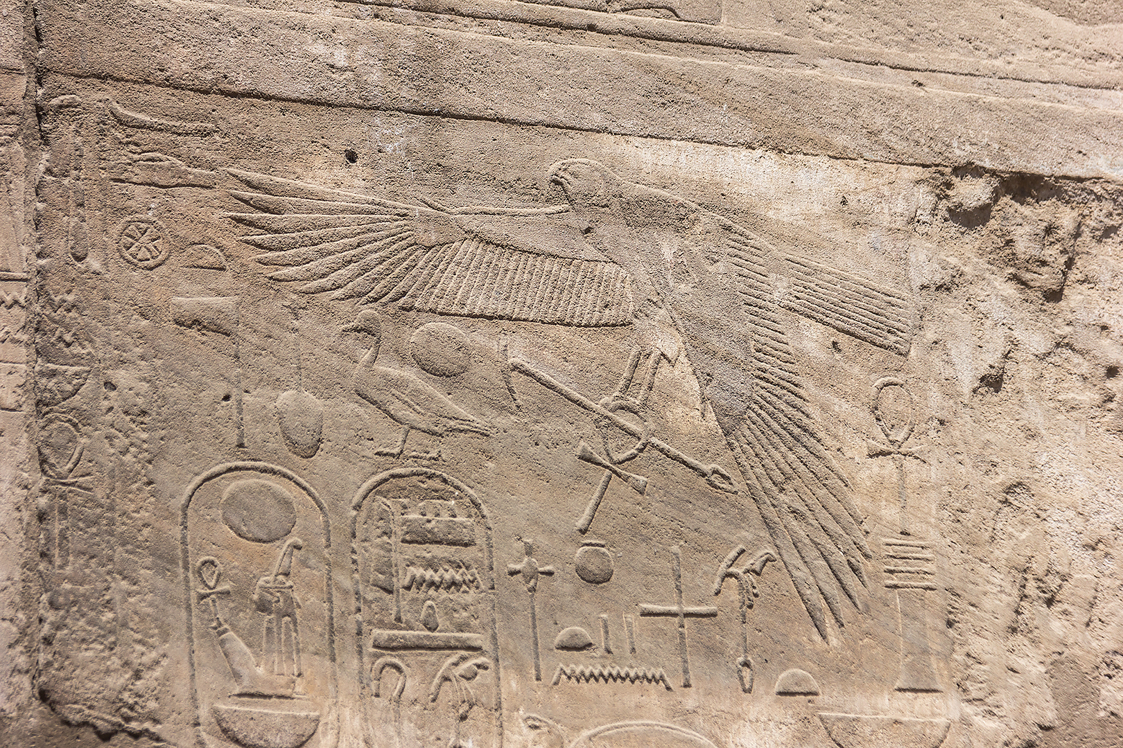 Inscriptions in the ruins of Luxor temple