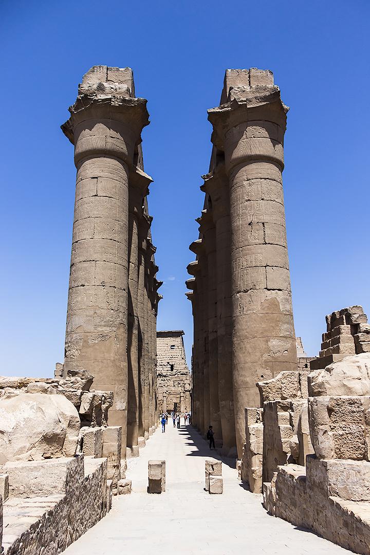 Columns at at Karnak temple