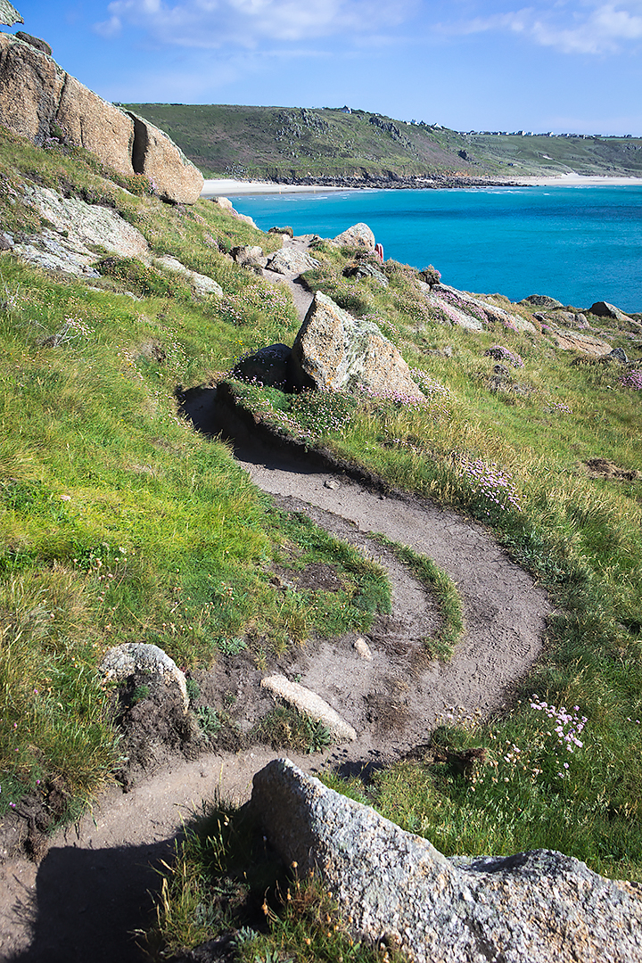 A path on the coast of Cornwall