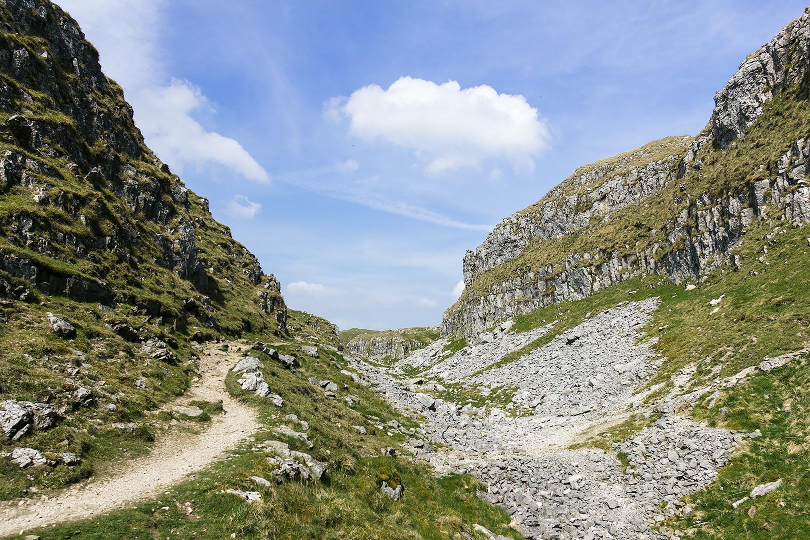 Rocky paths between Malham Tarn and Malham Cove