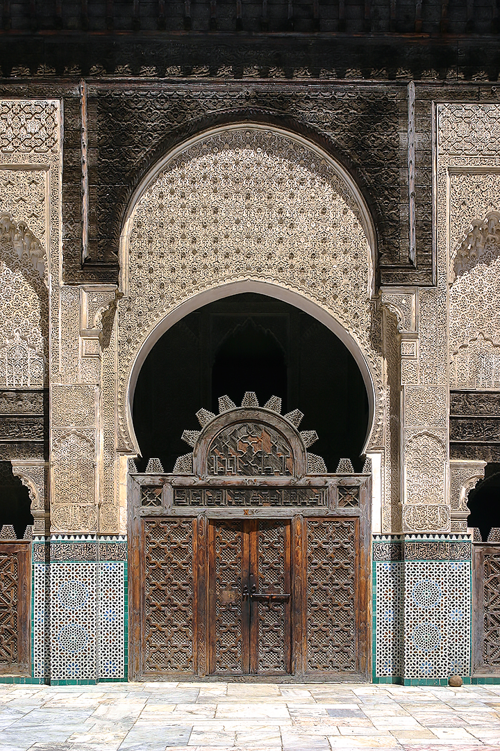 The incredible architecture at Bou Inania Madrasa