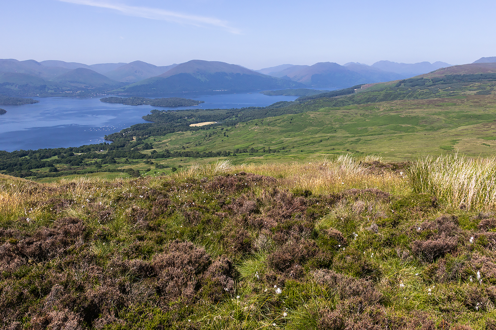Loch Lomond and the Highlands from Conic Hill