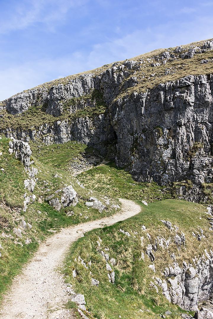 A path above Malham Cove
