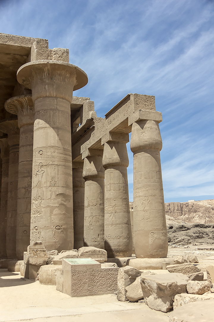 Ruined columns in the Ramesseum