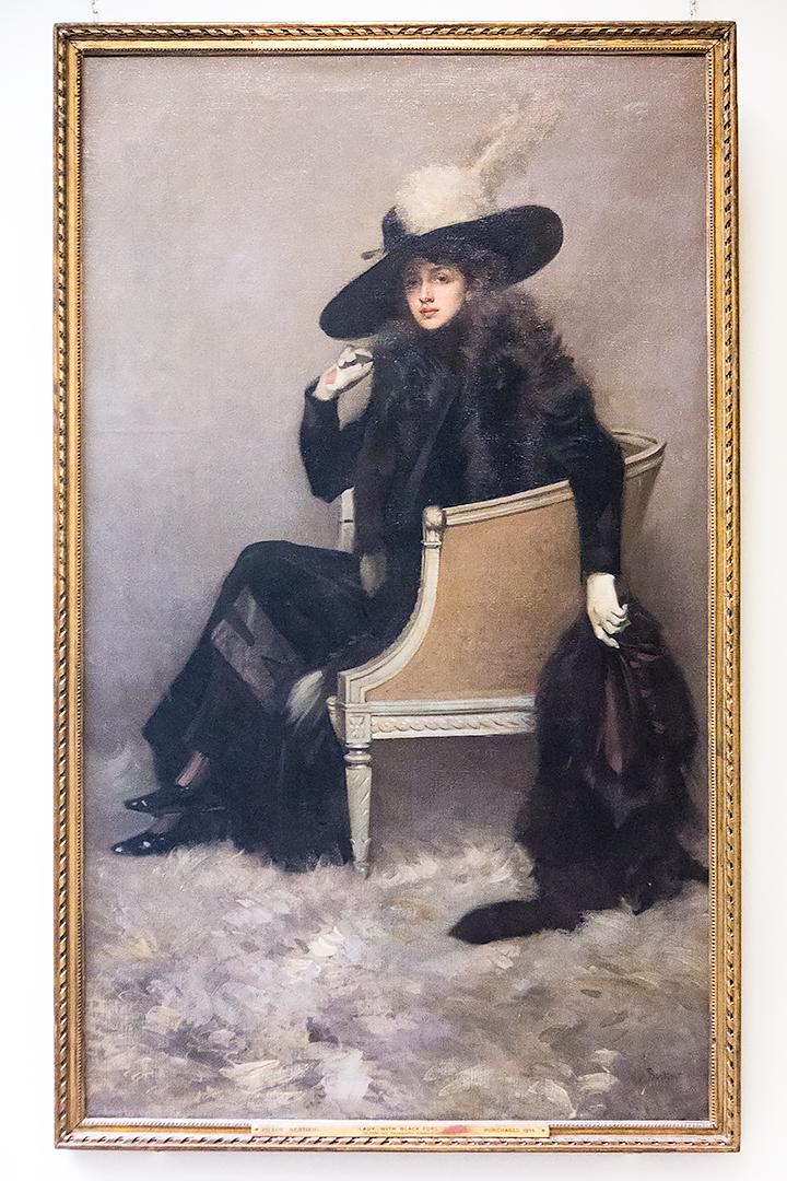 Lady in Black Furs (La dame aux fourrures noires) by Pilade Bertieri