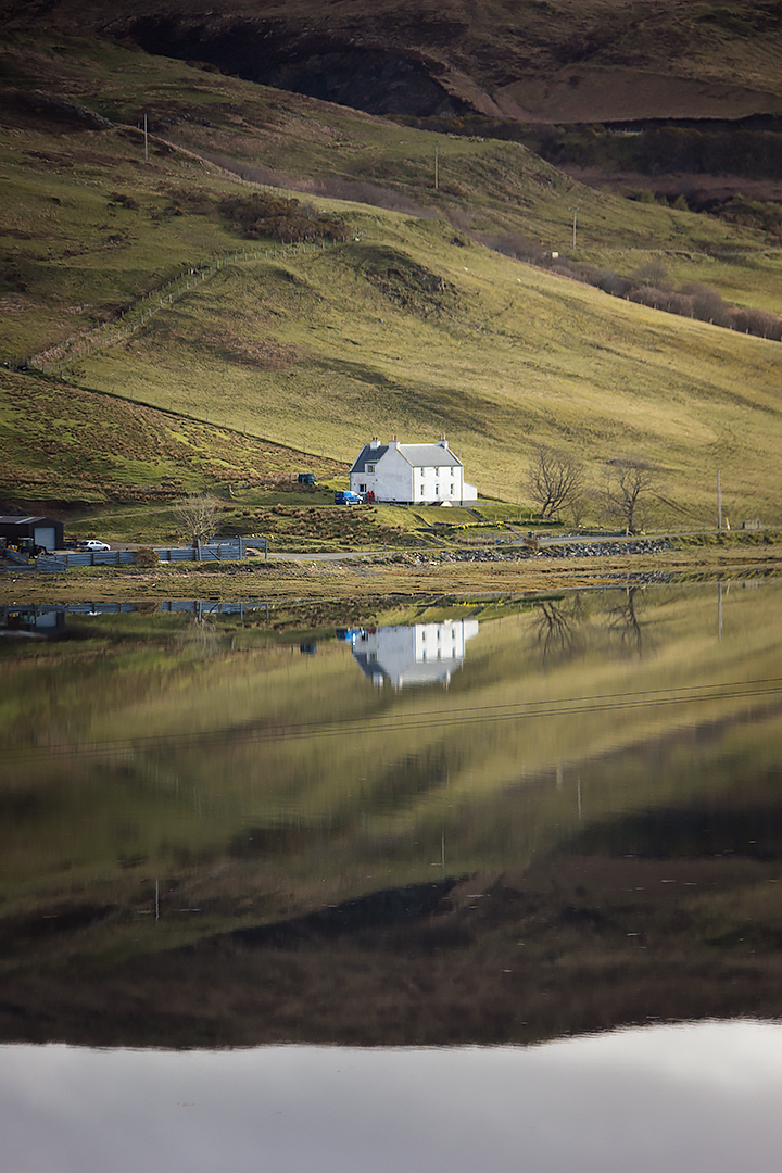 An isolated home on the Isle of Skye