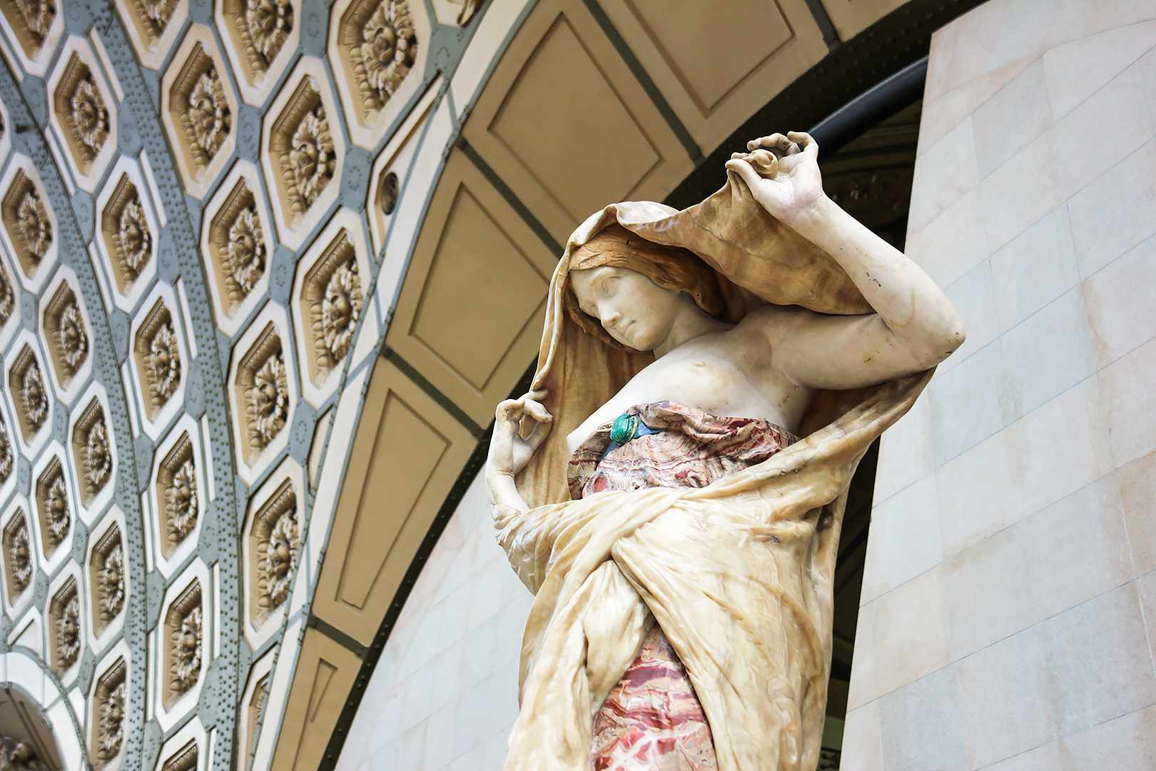 Nature Unveiling Herself by Ernest Barrias