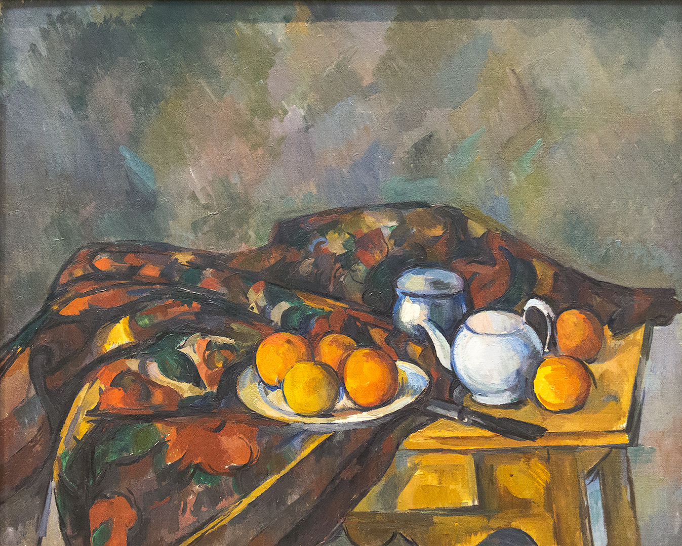 Still life with teapot by Paul Cézanne
