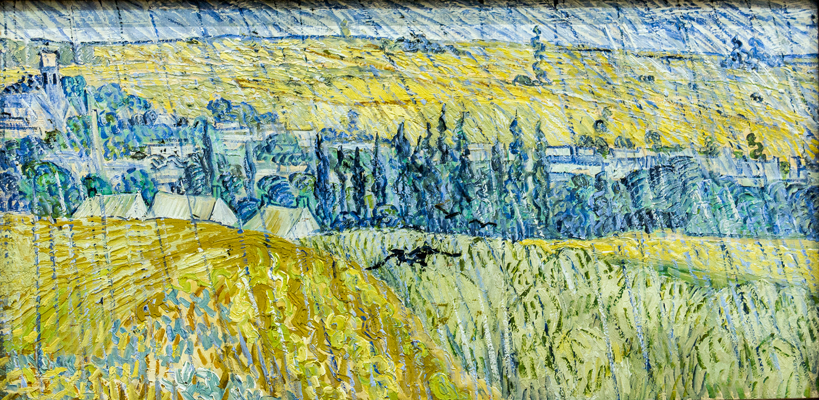 Landscape at Auvers in the Rain by Vincent Van Gogh
